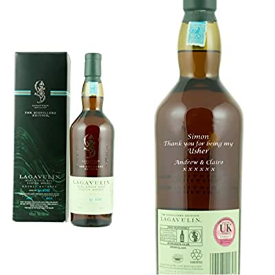 Personalised Lagavulin Distillers Edition Single Malt Whisky 70cl Engraved Gift Bottle