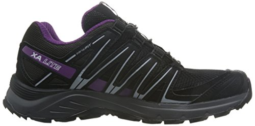 Salomon Damen XA Lite, Synthetik/Textil, Trailrunning-Schuhe Schwarz (Black/magnet/grape Juice)