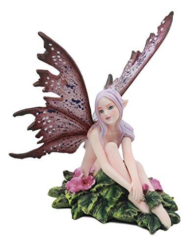 Ebros Amy Braun Skurril Anemone Pink Flower Garden Fairy Figur FAE Magic Statue Fantasy Collectible 12,1cm Hoch -