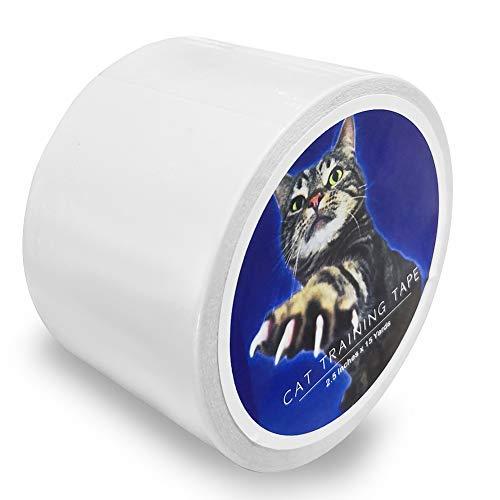 VCOS Multifunktionales Anti-Kratz-Katzenklebeband, 6,3 cm x 4,5 m, transparent, doppelseitiges Klebeband für Türen, Couch, Möbel, Leder, Kratzschutz, Schutzband etc.