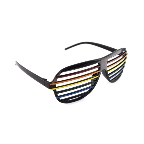 Schwarzer Regenbogen / Black Rainbow Neuheit-Shutter Shades Sonnenbrille