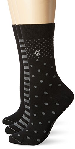 Marc O'Polo Body & Beach Damen Matt Fein Socken SOCKS WOMEN (3er Pack, Gr. 39/42 (Herstellergröße: 403), black/grey