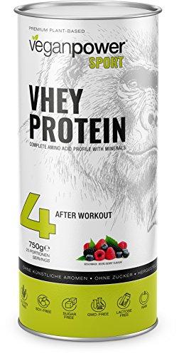 VHEY Erbsenprotein (XL 750g) vegan, 100% natürliches Eiweiß, reich an Aminosäuren, glutenfrei, zuckerfrei, lactosefrei mit Waldfrüchte Geschmack - 100% Soja-protein-booster