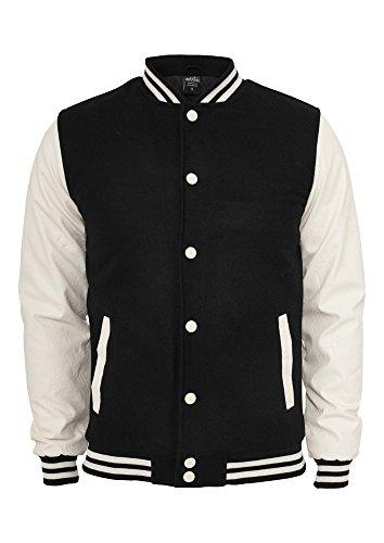 Urban Classics TB201 Herren Jacke Bekleidung Oldschool College Jacket Blk/Wht
