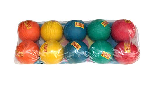 Sajavat Jumper Rubber Cricket Ball Multicolor (Pack of 10)