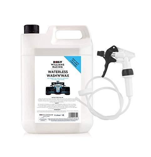 Rokit Williams Racing Wasserloses Wasch- und Wachs mit langem Schlauchauslöser, 5 l