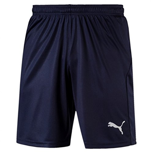 PUMA Herren LIGA Shorts Core with Brief Hose, blau (Peacoat White) , M
