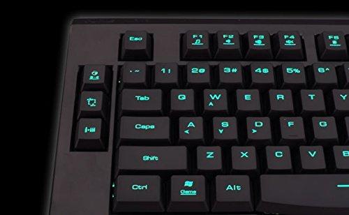Gamdias Hermes Lite Mechanische Gaming-Kombination (roter Schalter) mit integriertem Speicher 3 Farben Combo