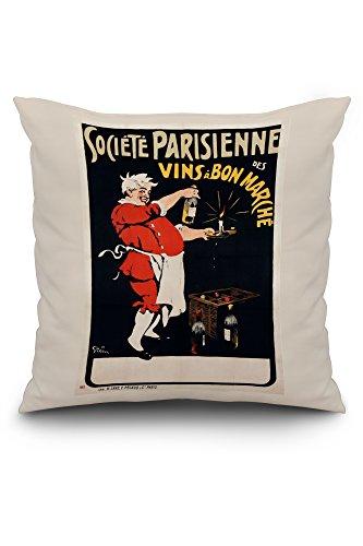 societe-parisienne-des-vins-a-bon-marche-vintage-poster-artist-grun-france-20x20-spun-polyester-pill