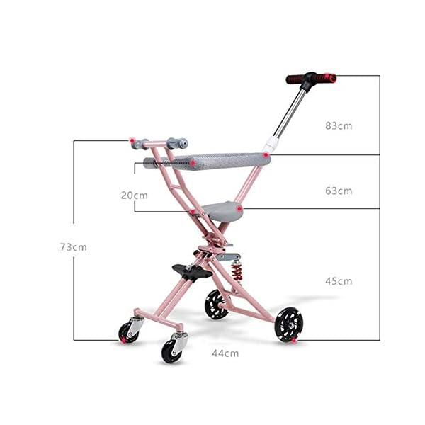 NACHEN Baby Airplane Stroller Lightweight Baby Stroller For Opening & Folding Infant Carriage NACHEN The new children's tricycle baby stroller can be folded easily One-click folding, convenient storage, can be on the plane. Double rear wheel brake system, let the baby safe, SUV-level shock absorption system, safe and enjoy leisure time. 2