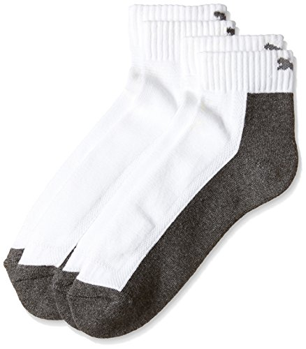 Puma Men's Socks (IN91073602_White and Grey_one size)