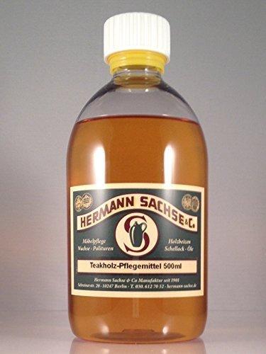 Teak-öl farblos 500ml Teakpflegeöl hell Hartholzöl für Gartenmöbel Leinöl Holzschutz Teakholzöl