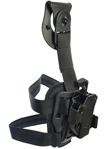 Orpaz Glock Drop-Leg Thigh Holster Level 2 Thumb Release 360 Rotation & Tension Adjustment Polymer Tactical Holster