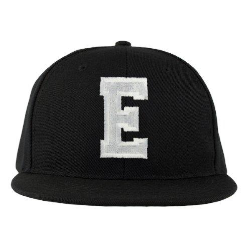 4sold Letter Casquette Snapback en Noir / Blanc avec les lettres A à Z E