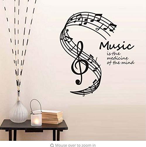 n des Geistes Wandaufkleber Musiknoten Daube Wohnkultur Wohnzimmer Musik Hinweis Wandtattoos heiß 44x50 cm ()