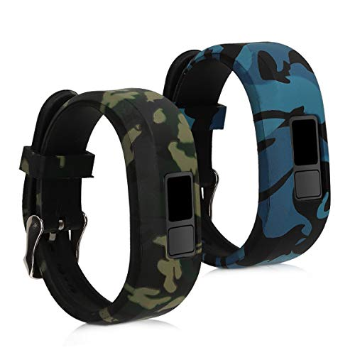 kwmobile Garmin Vivofit jr. / jr. 2 Armband - 2X Silikon Fitnesstracker Sportarmband für Garmin Vivofit jr. / jr. 2