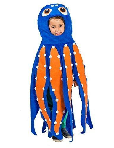 h-Kostüm für Kinder 110/122 (5-7 Jahre) (Tintenfisch Kostüm)