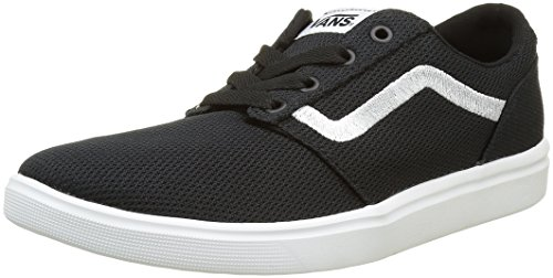Vans Herren Chapman Lite Low-Top, Schwarz ((Mesh) Black/White), 43 EU - Slip-on Schuhe White Vans Herren