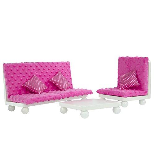 Olivias World 18 Zoll Babypuppen-Möbel Holz-Lounge-SofaPuppenstuhlTD-11930A/B -