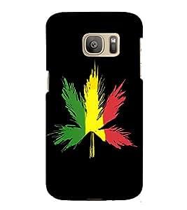 HiFi Designer Phone Back Case Cover Samsung Galaxy S7 :: Samsung Galaxy S7 Duos :: Samsung Galaxy S7 G930F G930 G930Fd ( Bob Marley Leaf Canada )