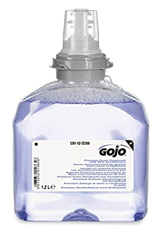 GOJO 5361-02-EEU00 TFX Premium Foam Handwash with Skin Conditioners, 1200 mL Refill (Pack of 2)