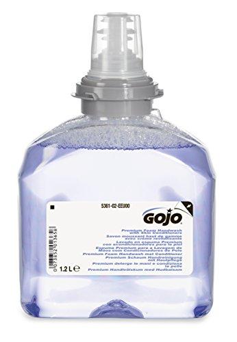 GOJO 5361-02-EEU00 - Pack de 2 recargas de jabón con acondicionadores para la piel, 1.2 l