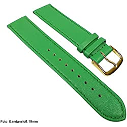 Miami Replacement Band Watch Band kalf nappa Strap green 22565G, width:13mm