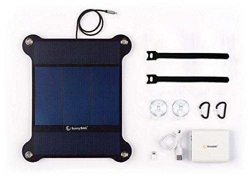 SunnyBAG Leaf+ Edition 2018 - Premium Outdoor Solar Ladegerät für Handy, Tablet, Laptop UVM. inkl. 6.000 mAh PowerBank - Das weltweit leichteste und stärkste Solarpanel - 2