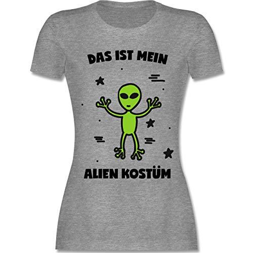 Ideen Weltraum Kostüm Für Den - Karneval & Fasching - Das ist Mein Alien Kostüm - M - Grau meliert - L191 - Damen Tshirt und Frauen T-Shirt