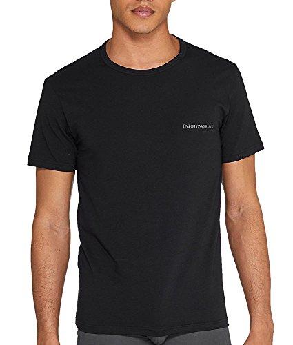 Emporio Armani Herren T-Shirt mit Rundhals-Ausschnitt 7P717111267 07320 Black/Black