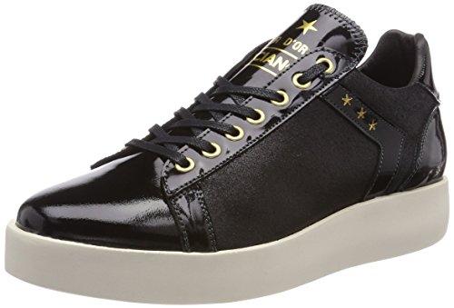 Pantofola d'Oro Lecce Glitter Donne Low, Sneaker Donna nero (nero)