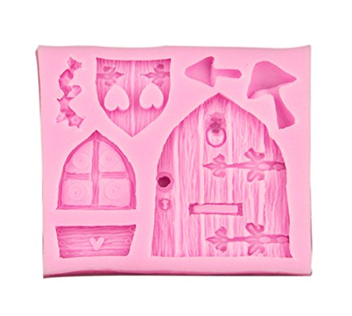 TOOGOO(R) 3D Fee-Haus Tuerm Silikon Fondant Schokoladen Kuchen Zucker Werkunterricht Form Formwerkzeug