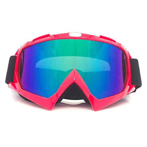 Aeici Sportbrille PC Sportbrille Herren Laufen Schutzbrillen für Brillenträger Rotes Mehrfarben