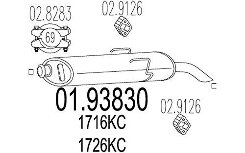 Preisvergleich Produktbild MTS Company 01.93830 Endschalldämpfer