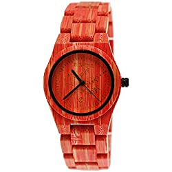 Pure Time® Designer Women's Watch in Red Ladies Watch Limited Colour World Edition + Watch Box