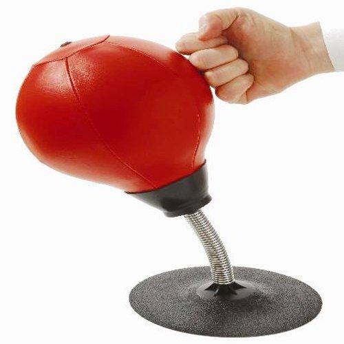 Delipop PU002 Ballon de frappe gonflable Rouge 17,8 x 35,6 cm cm en simili cuir pour anti-stress amusant comme cadeau de Noël Favor