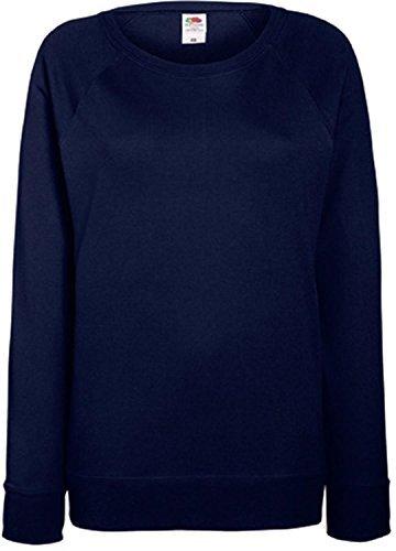 Damen Lightweight Raglan Sweat - In vielen tollen Farben Farbe Deep Navy Größe M (Damen Fruit Of The Loom)