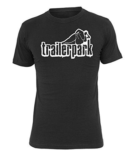 Trailerpark T-Shirt Logo, Farbe:schwarz, Größe:L - Farbe Logo-t-shirt