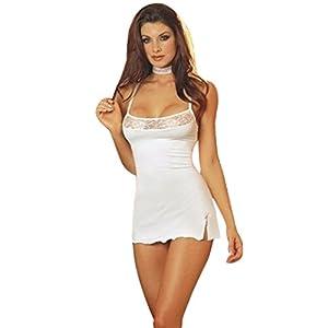 c65004802414e0 ... Hansee Dessous Damen Lace Babydoll Nachtwäsche Kleid Spitze Lingerie  Dress Underwear G-String Wäsche Nachthemd