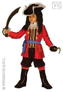 WIDMANN Disfraz para niños de capitán pirata wdm33498, para niños de 11-13 años, (158 cm, color rojo, talla S)