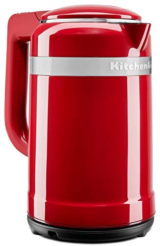 KitchenAid Wasserkocher 1,5 L | Design Serie | Doppelwandig und mit Edelstahl Innengehäuse | 5KEK1565 (Empire Rot)