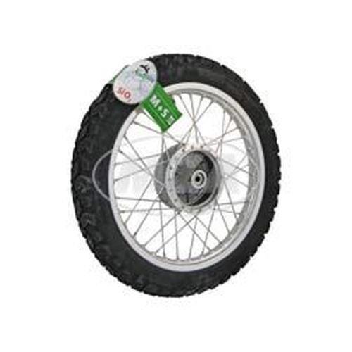 Preisvergleich Produktbild Komplettrad - HINTEN -Winter- 1,5x16 Zoll Alufelge, poliert - Edelstahlspeichen, mit Heidenau-Reifen K42 montiert