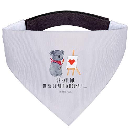 Mr. & Mrs. Panda klein, Halstuch, Hundehalstuch S Koala Künstler - Farbe Grau Pastell