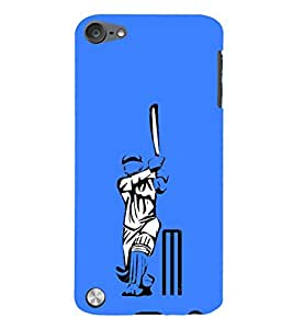 Fiobs Designer Back Case Cover for Apple iPod Touch 5 :: Apple iPod 5 (5th Generation) (Test 50 Cricket Bat Ball Sachin )