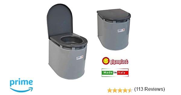 Giganplast wc chimico camper cm portata kg grigio