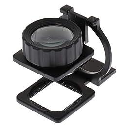 Fenteer Specchio Ingranditore in Metallo per Ingrandimento 10 Volte Pigeon Eye
