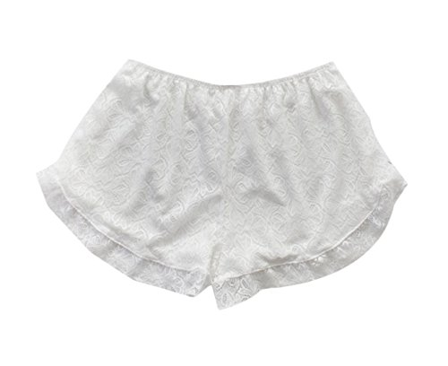 Againg Women's Anti-Emptied Boxer Briefs Lace Control Boyshort Panties