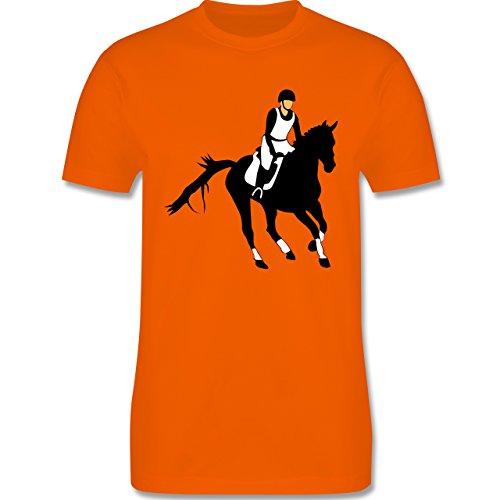 Reitsport - Vielseitigkeitsreiten - Herren Premium T-Shirt Orange