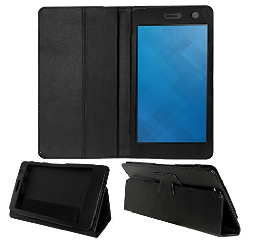 Acm Executive Leather Flip Case For Dell Venue 7 3741 Tablet Front & Back Flap Cover Stand Holder Black  available at amazon for Rs.349