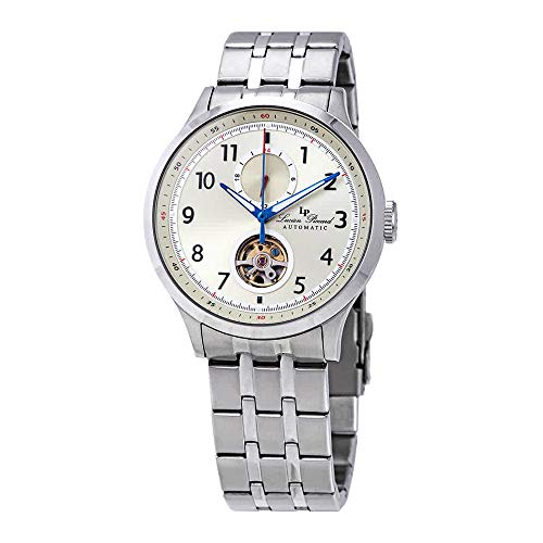 Lucien Piccard Open Heart GMT II Automatic Champagne Dial Mens Watch LP-28010A-20